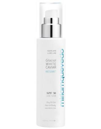 Glacial White Caviar Resort SPF30 Dry Oil For Hair and Body Сухое масло для волос и тела SPF30 с маслом прозрачно-белой икры